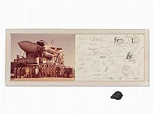 Buran 1.01, Photograph with Signatures, Soviet Union, 1988