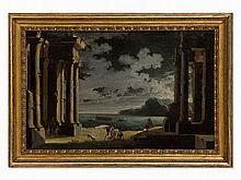 Leonardo Coccorante (1680-1750), Cappriccio, Oil, 18th Century