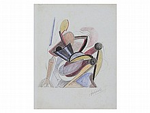 Alexander Archipenko, Cubist Drawing, around 1920