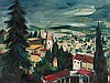 Franz Heckendorf, Oil Painting 'Townscape', 1925