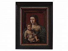 Jan Gossaert Follower, Painting 'Virgin and Child', 16th C