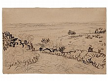 Vincent Van Gogh, Drawing 'The Plain of La Crau', 1888