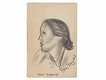 Boris Grigorieff, Pencil Drawing, 'Lilian Slaughter', 1928
