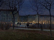 Luigi Bonazza (1877-1965), 'Evening in Vienna', 1905