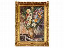 Paul Bach (1886-1919), Oil Painting, Flower Still Life, 1913