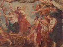 After Rubens, Allegorical Oil Sketch 'Fides Catholica', c. 1850