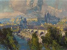 Jaroslav Setelik (1881-1955), View of the Moldova, c. 1920