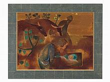 Ervin Bossányi, Oil Painting, Nativity, Germany, around 1930