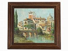 Randolf Wehn, Southern City View with River, 20th C