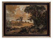 Heinrich Heinlein, Wide River Landscape, Germany, around 1830