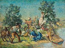 Erhard Amadeus Dier (1893-1969), Painter at the River, c. 1930