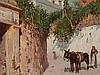 Giuseppe Giardiello 'Street Scene in Naples', Italy, c. 1900