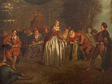 Jean -Antoine Watteau - after, 'Fêtes Vénitiennes', circa 1900
