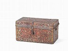 Flat Lid Chest with Leather Cover, Spain, 2nd H. 19th C.