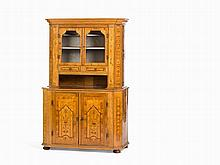 Baroque Stlye Display Cabinet, Cherry Wood, Marburg, 19th C.