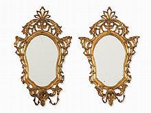 Pair of Girandole Mirrors, Openwork and Gilt, c. 1900s