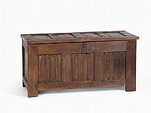 Gothic Oak Coffer, Oak, Germany, c. 1500