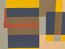 Rudolf Petrik, Gouache 'Composition of Rectangles', c. 1955