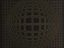 Victor Vasarely (1906-1997), Signed Metallic Print, 1970