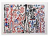 A. R. Penck (b. 1939), Color Serigraph, Composition, 1980s