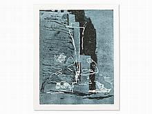 Per Kirkeby (b. 1938), Color Woodcut, Vase, Denmark, 1982