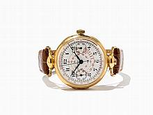 Universal Watch, Early Gold Chronograph,Switzerland,Around 1920