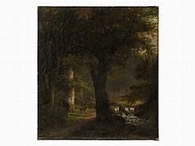 Anna van Sandick (1818-1904), Forest Glade with Deer, Oil, 1886