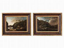 Johann Heinrich Wüest (1741-1821) Attr., Pair of Landscapes