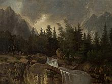 Károly Telepy (1828-1906), Mountainscape, Painting, c. 1900