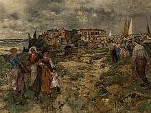 Karl Heffner (1849-1925), Southern Landscape, Oil, circa 1900