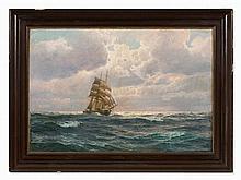 Wilhelm Müller-Brieghel (1860-1916), Barque on Sea, c. 1900