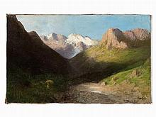 Emilio Magistretti (1851-1936), Mountain Landscape, pres. 1889