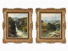 J. B. Smith (1837-1896), Attr., 2 Welsh River Landscapes, 1888