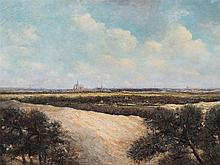 Antonij A. de Meyer (1806-1867) Attr.,View on Haarlem, Oil