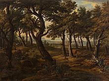 Jacob C. Weyermann (1698-1757), Deer Hunting, Oil, 18th C.