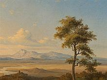 Circle of Carl Rottmann (1797-1850), Vast Landscape, Oil, 1840
