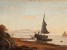 Viggo Fauerholdt, Fishing boots at Coast, Oil, 1861