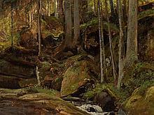 Ivan I. Shishkin (1832-1898), attr., Forest Stream, c. 1895