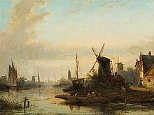 Jan Jacob C. Spohler (1837-1922), River Landscape, Oil, 19th C.