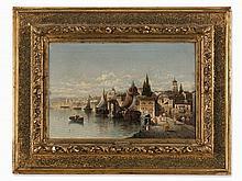 Karl Kaufmann (1843-1905), Italian Townscape, Oil