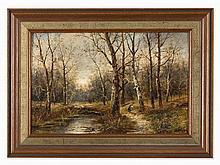 Karl Kaufmann (1843-1902), The Wood Collector, Oil, 1890s