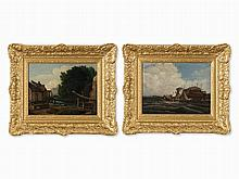 Francis Place, Follower, Pair of Landscapes, Early 19th C.