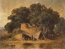 Heinrich v. Reder (1824-1909), Landscape with figures, 19th C