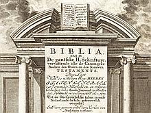 Dutch Bible, Samuel Luchtmans, Leiden, 1750