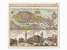 Matthäus Seutter, Bird's Eye View of Venice, Augsburg, 1740