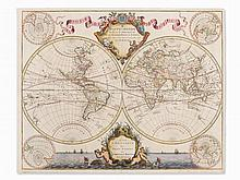 Guillaume de l'Isle, Map of the Modern World, Paris, 1730