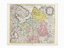 Seutter's Copper Map of the Russian Empire, Augsburg, 1730