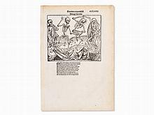 Dürer's Dance of Death Woodcut from the Nuremberg Chronic, 1493