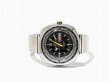 Buler Seawind GMT Wristwatch, Switzerland, Around 1965