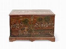 Temple Chest with Depictions, Rajasthan, 19th Century